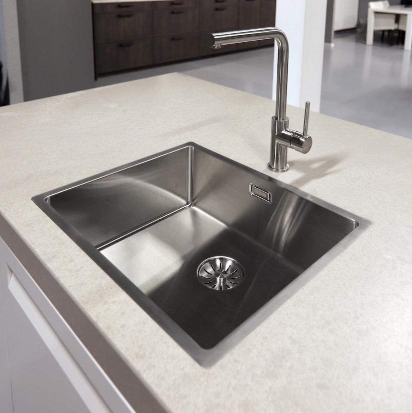 Blanco 225087 Ruimtebesparende Sifon Voor Dubbele Keukenspoelbak 50 mm